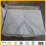 台所または浴室のフロアーリングのための自然なVolakasの白い大理石の床タイル