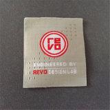 Custom 50d de alta densidad el doble de vestido de brocado Etiquetas ropa etiquetas principales etiqueta tejida