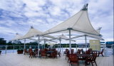 Пвдф мембранные структуры палатку на берегу озера Тень