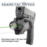 1つの赤外線レーザーに付きピストルによって取付けられる戦術的な多機能のGlock 3つおよびLEDの懐中電燈との緑レーザーの視力