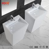 Kingkonreeの現代支えがない固体表面の浴室の洗面器(181207)