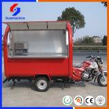 Hochwertige schnelle Anlieferungs-mobile elektrische Motorrad-Nahrungsmittelkarre/Nahrungsmittel-LKW