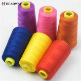 100 % polyester filé teint fils à coudre haute résistance des fils à coudre polyester filé fabricant en Chine