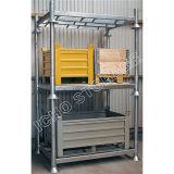 Entrepôt de stockage personnalisé galvanisé pliable empilage palette métallique en acier