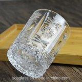 Заводской заказ чашка виски Custom Design 10oz прозрачное стекло с тиснением Кружка