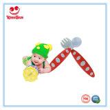 다채로운 플라스틱 아기 숟가락 및 포크