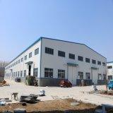 Atelier léger de structure métallique avec la grue de 10 tonnes