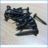 Parafusos finos pretos do Drywall da cabeça do cornetim da linha