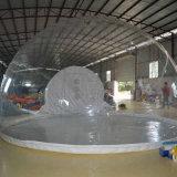 Double Platon partie gonflable tente en PVC transparent chambre à bulles