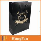 Sac à provisions à la main de drawstring Factory Supplier avec Gold Hotstamping Logo