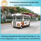 Популярная конструированная тележка еды 4 колес электрическая в Китае