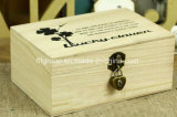 Подгонянная коробка коробки хранения классической конструкции портативная восхитительная деревянная упаковывая
