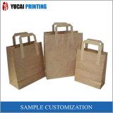 Sacos de portador do papel de embalagem da manufatura do saco de compra