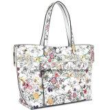 Saco de compra reversível floral do plutônio da impressão do saco de Tote das mulheres do desenhador