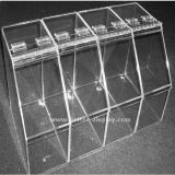Оптовые стеллажи для выставки товаров гастронома для акриловой коробки конфеты