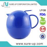Brocca di plastica della boccetta del caffè colorata stile rotondo blu dell'uovo (JGFJ)