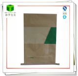 Saco de papel inferior de costura alinhado plástico