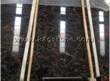 床のための磨かれた自然な黒かNero Marquinaの大理石、Portoroの大理石のタイルまたはフロアーリングまたは壁