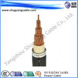 Cabo de cobre de energia elétrica com PVC embutido
