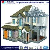 Casa modulare moderna di lusso della villa chiara della struttura d'acciaio