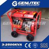 190A de lucht Gekoelde 5kw Diesel Generator van de Lasser
