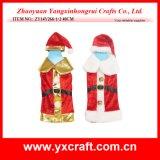 Décoration de Noël (ZY14Y51-9-10) Ensemble de décoration de Noël Ensemble de cadeaux de vin