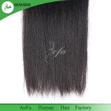 100%年のまっすぐのバージンの加工されていないインドの人間の毛髪のよこ糸