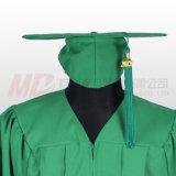 Mattstaffelung-Schutzkappe mit Troddel im Kelly-Grün