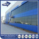 2017 새로운 디자인 ASTM, GB 의 유리제 외벽을%s 가진 AISI 표준 가벼운 유형 강철 구조물 건물