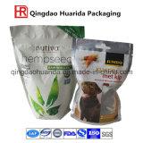Sac de empaquetage comique de bonne qualité d'aliment pour animaux familiers avec le zip-lock