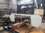 La bande horizontale de moteur diesel a vu des scieries de machine de travail du bois de bois de charpente