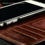 Het Geval van het Leer van het Ontwerp van de Douane van de lage Prijs met het Frame van de Foto voor Geval van het Leer van iPhone 5/Se6/6s het Echte