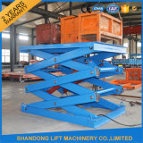 2ton 2.2m Warehouse Scissor Hydraulic Weight Lifting equipment with Ce