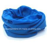 工場OEMの農産物カスタムロゴによって印刷されるポリエステル継ぎ目が無い淡黄色のヘッドスカーフ