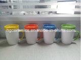 300ml tazza di ceramica con il sottobicchiere, tazza 300ml con il coperchio