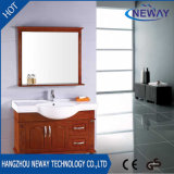Pavimento all'ingrosso che si leva in piedi il Governo di stanza da bagno di legno con lo specchio