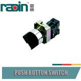 Pulsador de los interruptores selectos del piloto con el LED