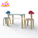 2018 Nuevo Diseño original de madera en edad preescolar niños escritorio y silla para el estudio W08G244