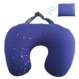 Plegable en forma de U del cuello del recorrido almohada rellena con perlas de poliestireno