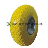 手トラックのタイヤ(3.00-4/300-4)のための平らで自由なPUの車輪
