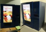 ذكيّة طعام [فندينغ مشن] يبيع [كنفور بلت], 55 بوصة [تووش سكرين] مع مصعد لأنّ طعام سريعة, قوالب, خبز, لبن, [يوغورت], خضرة, حساء, مغفّل, ثمرة,