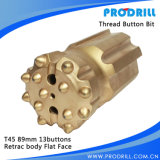T38/T45/T51 Steel Skirt/Carbide Thread Retrac Button Bit für Top Hammer