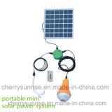 Al aire libre luces solares Sistema Kit de 2 LED Bombillas Banco de potencia lámpara que acampa