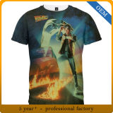 T-shirts estampés par coutume de prix usine pour les hommes