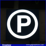 LED allumée signe la lettre de stationnement (GD-LE)
