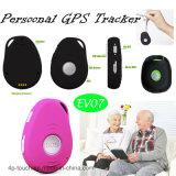 Traqueur personnel imperméable à l'eau chaud d'IP66 GPS avec le bouton de SOS (EV-07)