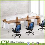 6つのシートのオフィスの区分のディバイダのコンピュータのキュービクルのスタッフワークステーション
