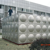 Tanque de água do aço inoxidável no tipo da seção