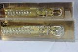 Viele Bohrgeräte und Perlen Galant goldener PU-Haustier-Hundehalsring