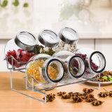 Nuovi tipi agitatori del pepe del sale con la cremagliera del vaso di vetro